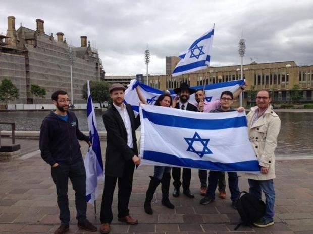 VISIT:  A group of British Israelis and Jews visited Bradford in the wake of George Galloway's controversial comments