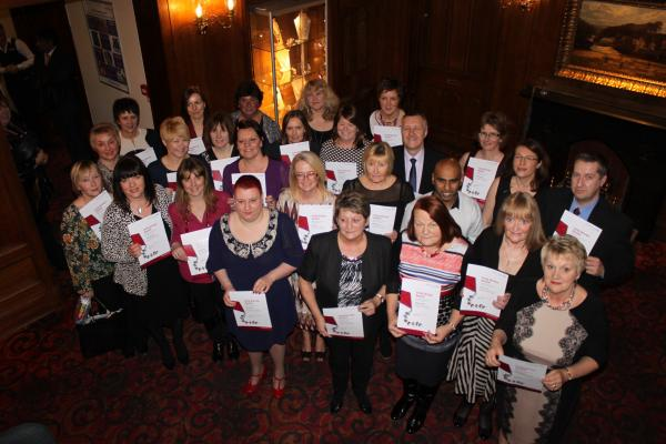 Health staff clock-up long service awards at NHS trust ceremony