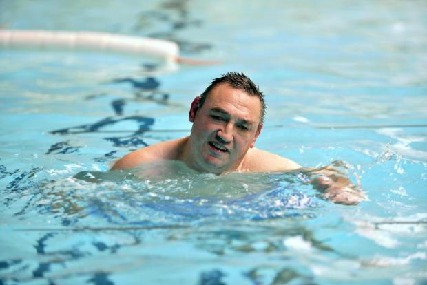 FUNDRAISING: Mark Longstaff is is taking on a swimming challenge at Bowling Pool, Bradford
