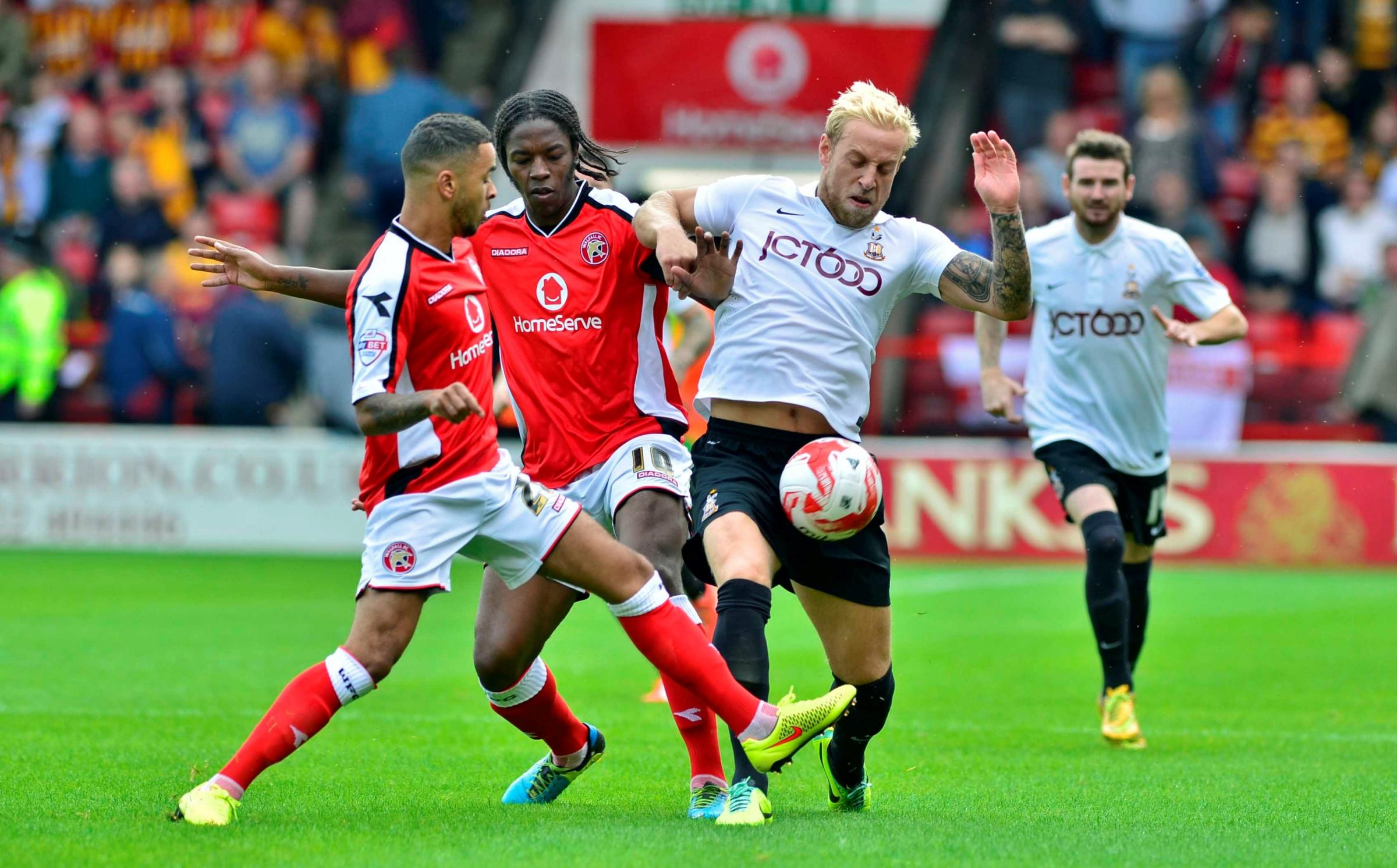 Only knockout blow missing from Bradford City's trip to Walsall