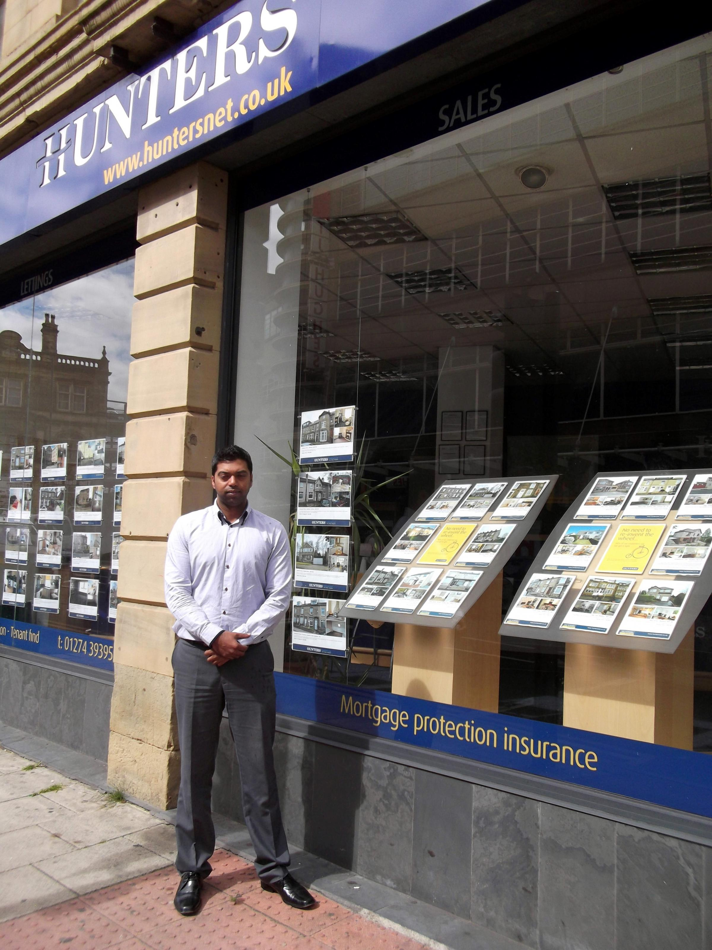 RISING PRICES: Ibrar Hussain, director at Hunters estate agents, who said affordability is declining as prices rise