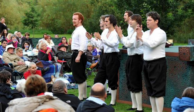 The Lord Chamberlain's Men perform Romeo and Juliet at East Riddlesden Hall last night