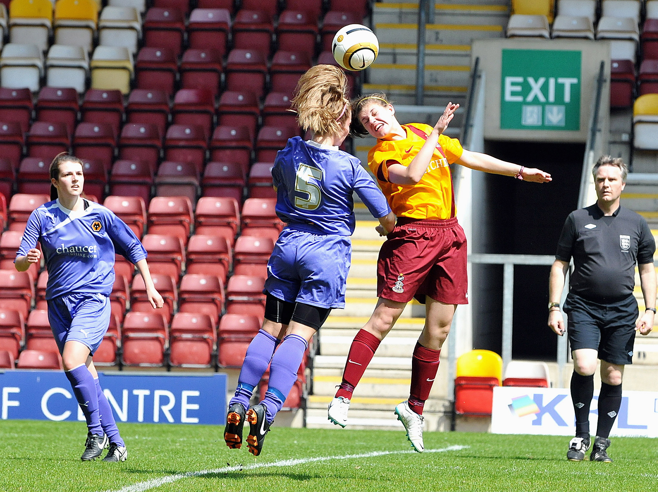 Molly Sharpe bagged a brace for Bradford City's women