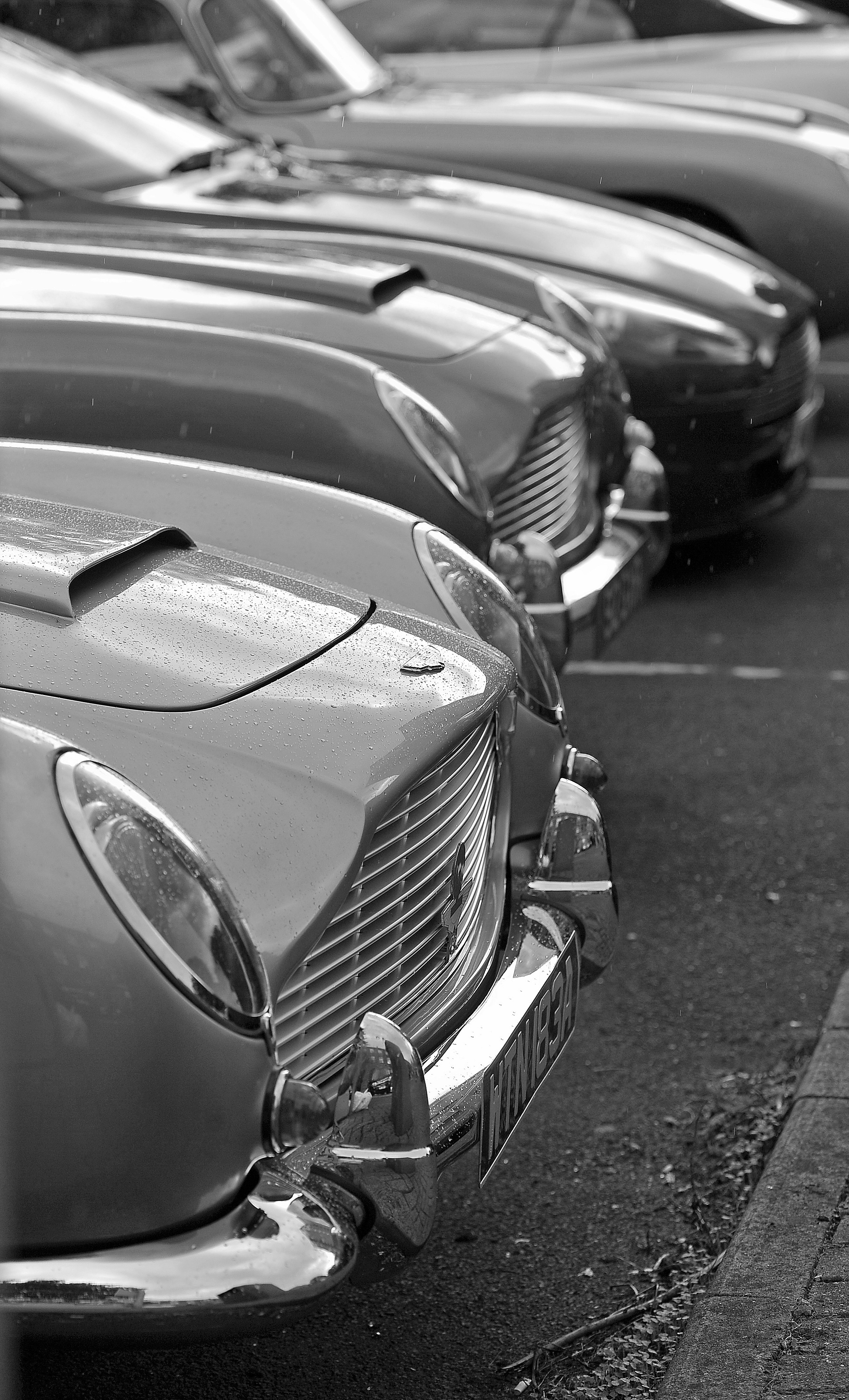 Classic collection of Aston Martins paraded through Farsley