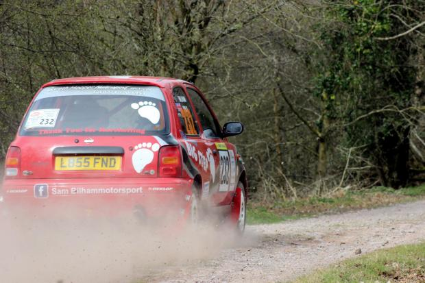 Sam Bilham in action in his 'The Next Big Step' Nissan Micra – Picture: MCR Marketing Solutions
