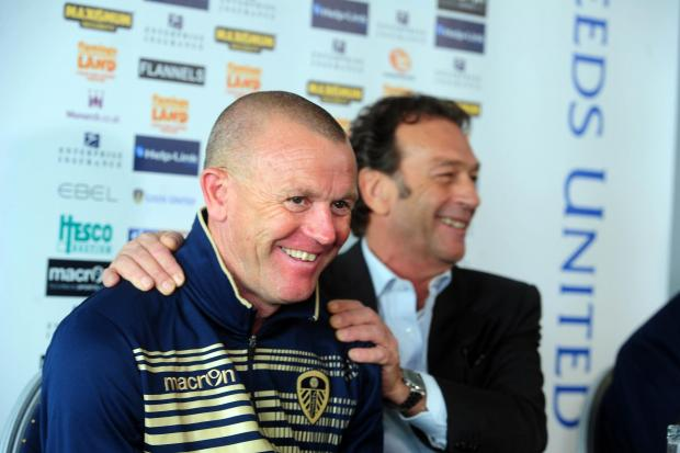 Massimo Cellino and David Hockaday in happier times