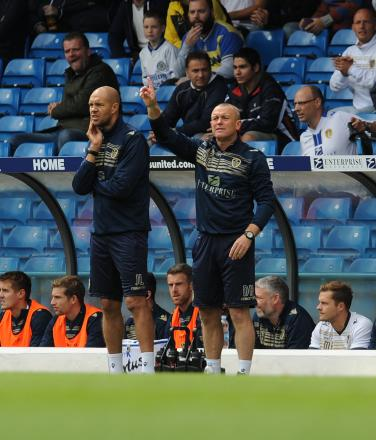 Leeds' under pressure manager David Hockaday