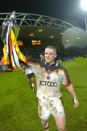 FLASHBACK: Karl Pratt celebrates the Bulls' World Challenge victory in 2004. He admits it was tough when he had to retire due to injury less than two years later