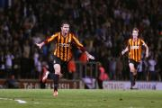 Billy Knott runs off in sheer ecstasy after his stunning strike in front of the Kop