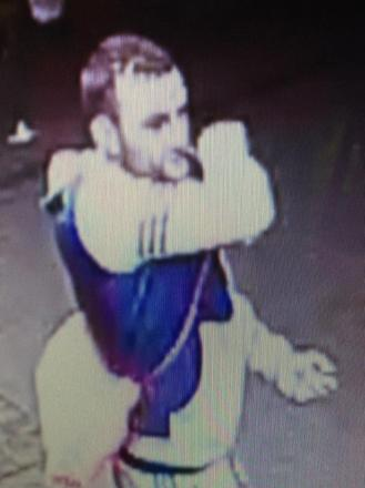 A CCTV image released by police