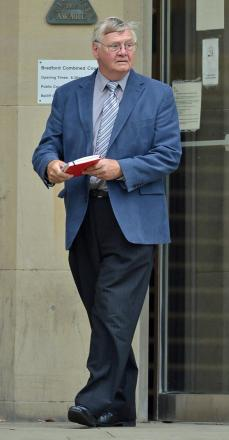 ACCUSED: John Laister leaving Bradford Crown Court during his trial