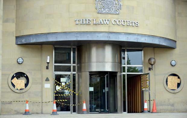 Damage to the Bradford Crown Court building