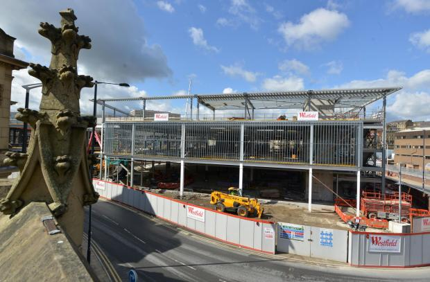 DEVELOPMENT: Work continues on the Westfield Shopping centre