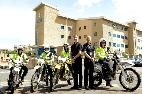 Chief Inspector Damien Miller, head of Neighbourhoods and Inspector George Bardell, who leads the bike team.