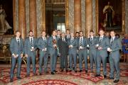 NOBLE ACHIEVEMENT: Yorkshire parade their silverware in the Palace alongside the Duke of Edinburgh