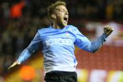 Billy Clarke celebrates after netting City's first equaliser – Picture: Thomas Gadd
