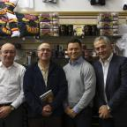 Bradford Telegraph and Argus: Steve Ferres, Philip Hoyle, Robbie Hunter-Paul and Marc Green