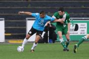 Billy Priestley in action for Avenue in Saturday's 4-2 home defeat to Tamworth  Picture: John Rhodes
