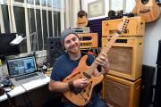 APPEAL: Guitarist Dave Brons who is trying to raise funding for his album