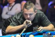 PartyPoker World Pool Masters semi-finalist Chris Melling in action at Nottingham
