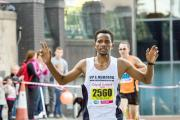 Tesfaye Debele broke his personal best in finishing 12th in the Abbey Dash 10k