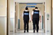 Security staff on duty at Bradford Royal Infirmary