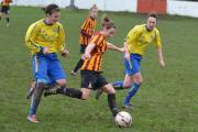 Action from Bradford City Ladies v  Guiseley Vixens