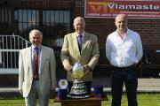 Bradford League officials Graham Reid, Keith Moss and David Young