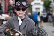 Steampunks gather on Haworth's cobbles for a weekend of fun