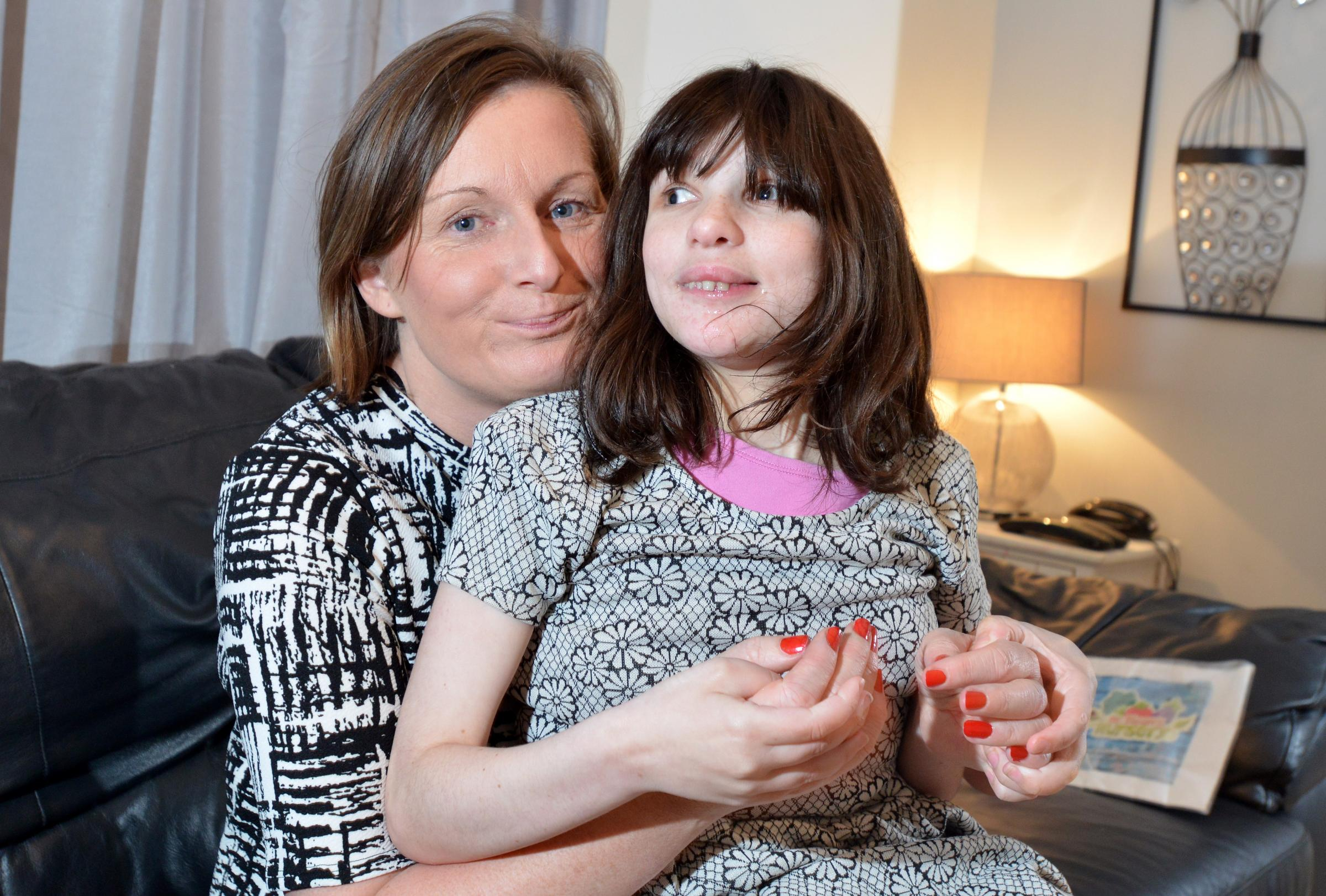 Louise McDonald from Eccleshill with her daughter Ellie (19). The department of Work and pensions say she has to be assessed as being not fit for work