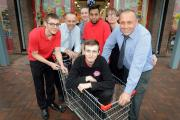 Poundstretcher staff at the opening of the new store at Enterprise 5, Idle