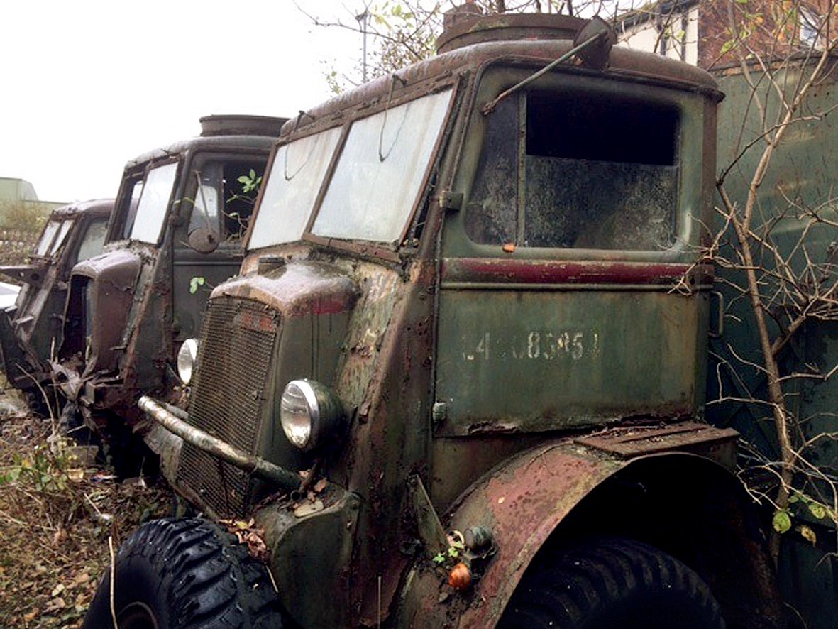 Rusting wartime vehicles saved from scrapyard by Bradford military ...