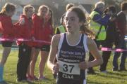 Katie Atkinson won the under-13 girls' race at Nunroyd Park