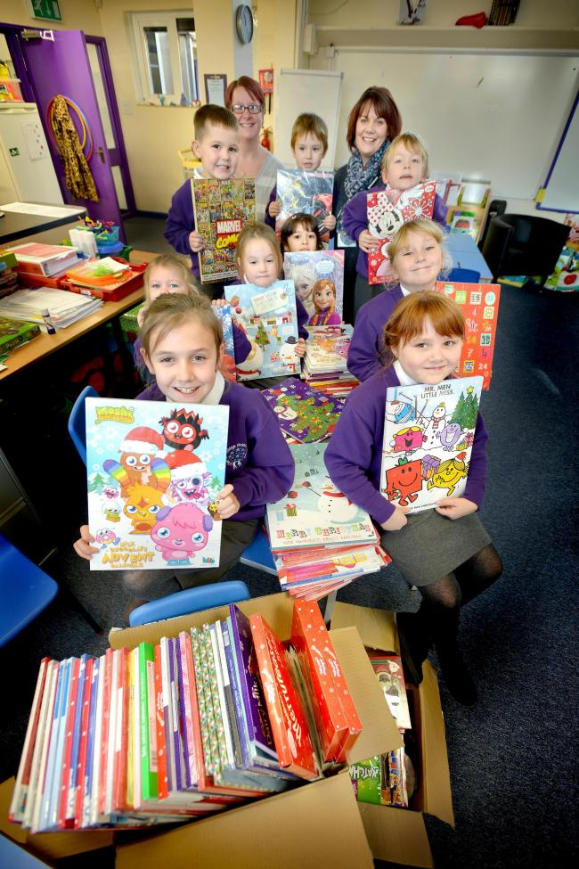Pupils at Clayton Village Primary School have been collecting Advent calendars for the Bradford Food Bank