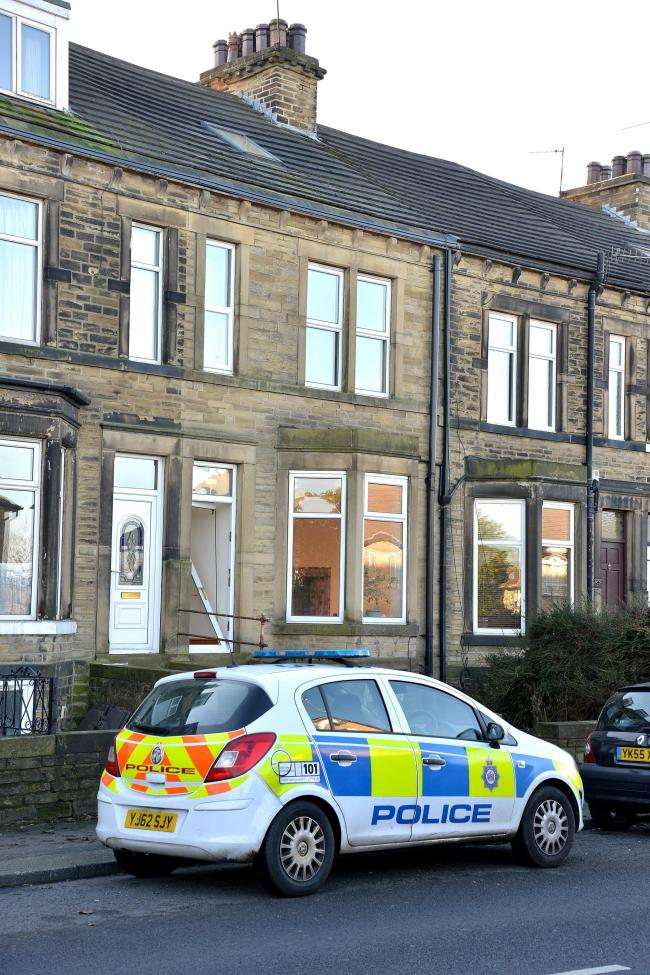 The police raid at Insp Keith Boots's house in Norman Lane, Eccleshill