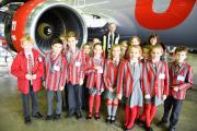 Pupils from Ghyll Royd School enjoy a behind the scenes tour of Multiflight