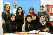 Nageena Khan, pictured back left, with the Get2Gether group who are developing initiatives to tackle loneliness in their neighbourhood