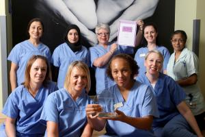 Bradford maternity ward team wins award for outstanding care of pregnant woman with cancer
