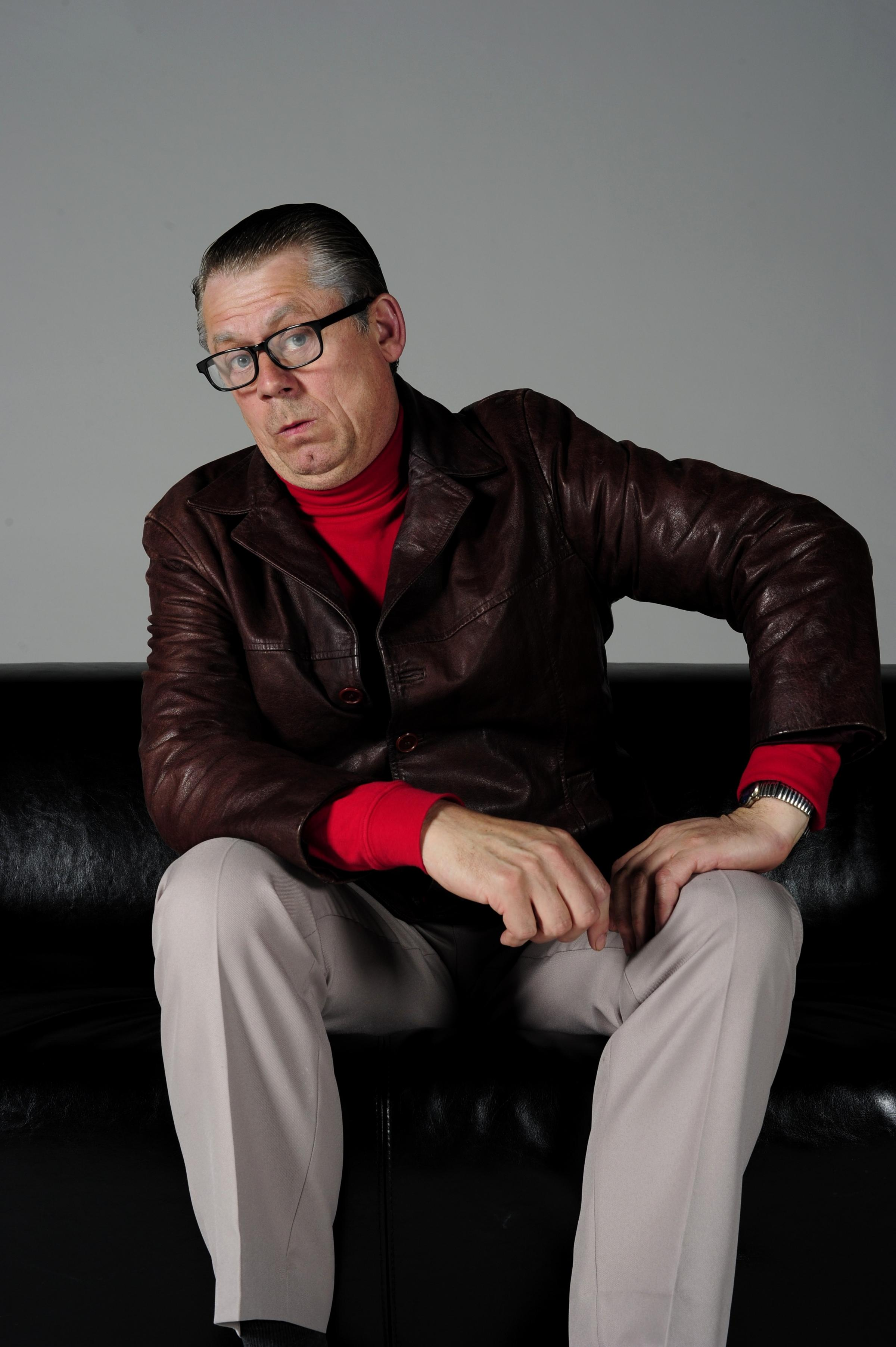 John Shuttleworth delighted the audience at King's Hall, Ilkley, last night