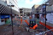 Broadway is being resurfaced in preparation for the opening of the shopping centre