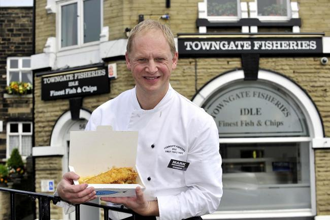 Mark Drummond, of Towngate Fisheries, with his award-winning food