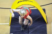 The obstacle time trial, demonstrated here by Ilkley Harrier Robbie Matthews, is one event  that will face competitors in the Yorkshire Sportshall Athletics Championship in Hull on Saturday, February 8