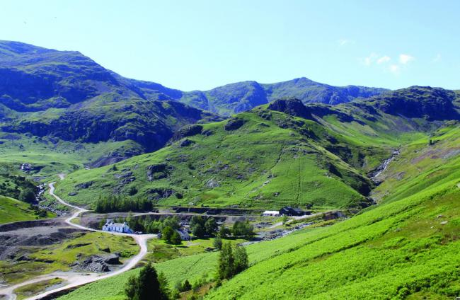 Coniston Coppermines mountain cottages, amid wonderful Lakeland scenery
