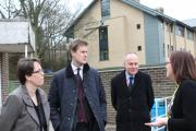 Shadow Education Secretary Tristram Hunt (centre) meets Ilkley Grammar head teacher Helen Williams (left) and Labour's prospective parliamentary candidate John Grogan at the school. Picture supplied by Ilkley Grammar School