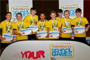 Hanson Academy's Year Eight boys' team, who won a bronze medal at the West Yorkshire Sainsbury's School Games sportshall athletics finals at Halifax's North Bridge Leisure Centre – Picture: Zagni Photography