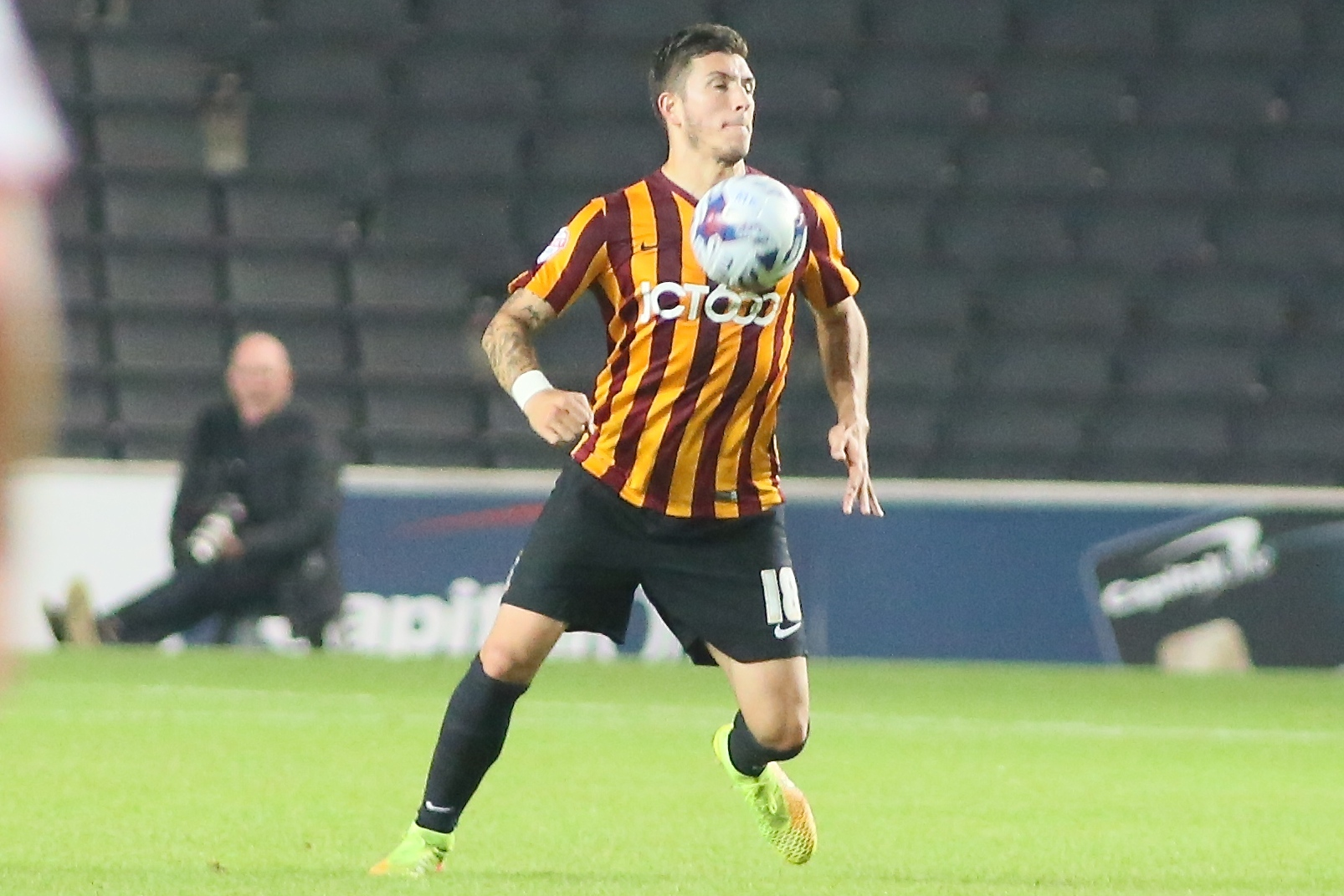 Chris Routis adapted to a move to midfield after joining City last summer as a centre half