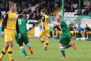Danny Frost celebrates scoring for Avenue earlier in the season – Picture: John Rhodes