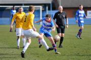 Eccleshill United striker Josh Rosenstrauch in action during last weekend's 4-0 win against Grimsby Borough