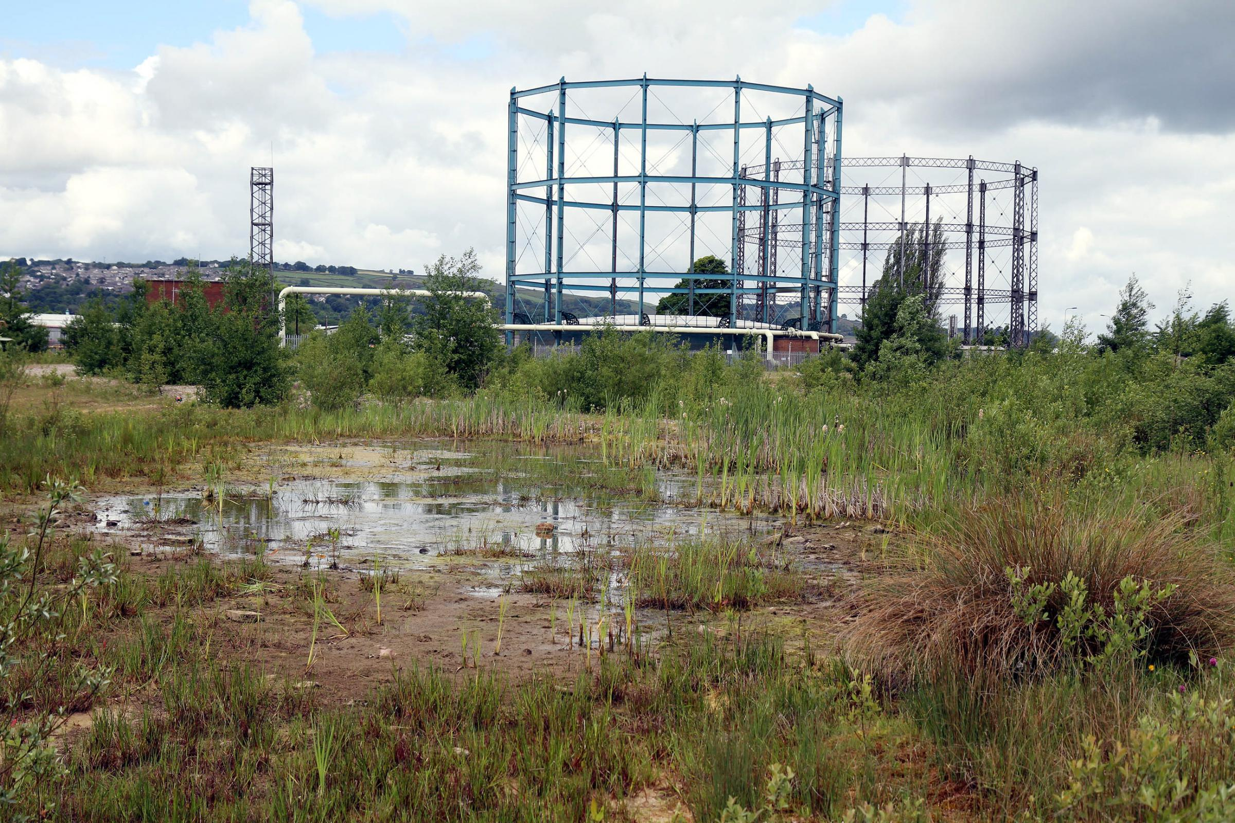 The former gasworks site at Marley, where a proposed energy plant has been refused permission