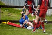 Gregg Marriott scored one of Queensbury A's tries as they routed Clayton to secure promotion from Pennine League Division Three